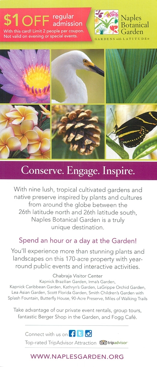 Pin It On Pinterest. Divine Naples Visitor Center. Divine Naples Visitor  Center. Naples Botanical Garden